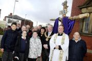 Pictured: Kearsley Mount Lenten cross project