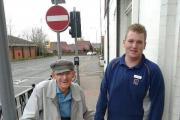 Teenage shop worker who walked elderly man home from Aldi becomes viral sensation